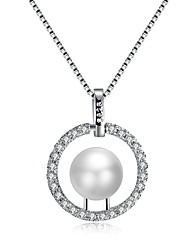cheap -Women's Others Drop Luxury Fashion Pendant Necklace Cubic Zirconia Imitation Pearl Imitation Pearl Cubic Zirconia Pendant Necklace ,