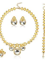 cheap -Women's Bangles Necklace Crystal Rhinestone Luxury Fashion Wedding Party Crystal Rhinestone Round Circle Necklace Earrings Bracelets Ring