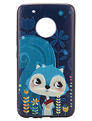 preiswerte -Koffer für Motorola Moto G5 plus Kofferabdeckung Eichhörnchen Muster Relief zurück Deckel weichen tpu