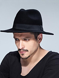 cheap -Unisex Cotton Wool Blends Fedora Hat,Traditional/Vintage Solid Autumn Winter Pure Color