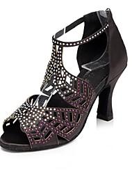 Da donna Seta Sandali Tacchi Sneaker Per interni Con diamantini A stiletto Nero Rosso Rosa 5 - 6,8 cm Personalizzabile