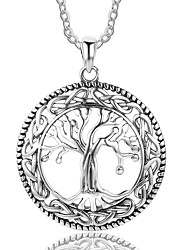 cheap -Women's Tree of Life Personalized Pendant Necklace Sterling Silver Pendant Necklace , Party