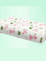 Confortable-Qualité supérieure Oreiller pour enfant à mémoire de forme Oreiller en latex naturel Appui-tête Tissu en tulle Latex Elastique