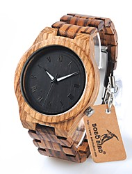 Men's Fashion Watch Wrist watch Casual Watch Chinese Quartz Chronograph Water Resistant / Water Proof Wood Band Charm Luxury Casual