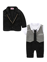 Baby Boys' Cotton Solid Color Clothing Set,Dresswear Autumn/Fall