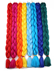 cheap -Braiding Hair Crochet Jumbo Synthetic Hair 1pc / pack Hair Braids Long 100% kanekalon hair