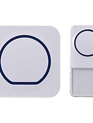 Wireless Doorbell Waterproof Wall Plug-in Cordless Door Chime Kit Dog BarkingWith 300m Range 52 Chimes Plug in Door Entry Bell for the Deaf