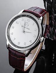 Недорогие -Муж. Повседневные часы Спортивные часы Модные часы Кварцевый Черный / Коричневый Защита от влаги Творчество Аналоговый На каждый день Элегантный стиль - Белый Черный / Нержавеющая сталь