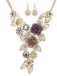 preiswerte -Damen Strass Strass Rose Gold überzogen Statement Ketten - Strass Rose Gold überzogen Retro Erklärung Fuchs Blume Modische Halsketten