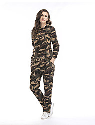 cheap -Women's Daily Sports Street chic Print Hooded Pant Long Sleeves Fall