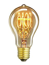 cheap -1pc 60W E26/E27 A60(A19) Warm White 2200-2700 K Retro Dimmable Decorative Incandescent Vintage Edison Light Bulb 220-240V