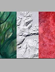 Недорогие -флаг итальянской 100% ручной росписи современных картин маслом современного искусства настенного искусства для украшения комнаты