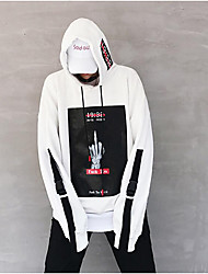 Men's Daily Casual Hoodie Print Hooded Micro-elastic Cotton Long Sleeve Summer Fall
