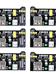 cheap -MB102 3.3V/5V Breadboard Power Supply Module for Arduino Board Solderless Breadboard (Pack of 6)