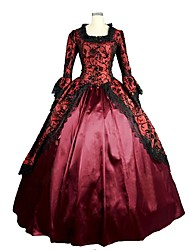 Steampunk® Marie Antoinette Renaissance Brocade Dress Ball Gown Vampire Halloween Costume