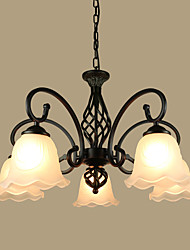 cheap -European Contracted Sitting Room Pendant Iron Art Modern Rural Mediterranean Restaurant Bedroom Absorb Dome Light