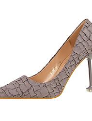 cheap -Women's Shoes Suede Spring / Fall Comfort Heels Stiletto Heel Pointed Toe Green / Light Pink / Khaki / Dress