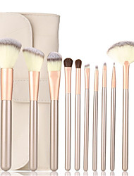 cheap -12pcs Makeup Brush Set Synthetic Hair Lipstick Eyebrow Eyeliner Mascara EyeShadow Bronzer Highlighter Blush Concealer Powder Foundation