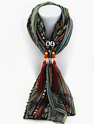 Femme Alliage Nylon Résine avec pince en métal Rectangle,Imprimé Toutes les Saisons