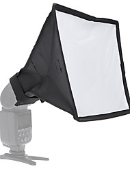 andoer 20 * 30cm / 7.9 * 11.8in portatil portátil flash difusor mini softbox kit para dslr speedlite flash