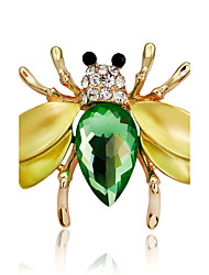cheap -Women's Brooches Synthetic Diamond DIY Multi-ways Wear Rhinestone Alloy Animal Rainbow Jewelry For Party Stage