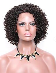 Недорогие -жен. Парики из натуральных волос на кружевной основе Бразильские волосы Натуральные волосы Реми Лента спереди Бесклеевая кружевная лента