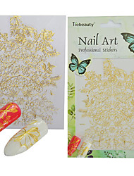 1pcs Charm Gold Lace Flower 3D Nail Art Sticker Beautiful Lace Gorgeous Flower Lace Pattern DIY Nail Art Design BP263