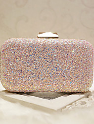 cheap -Women's Bags Special Material Evening Bag Sequin White / Blushing Pink