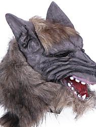cheap -Halloween Mask Practical Joke Gadget Halloween Prop Masquerade Mask Animal Mask Novelty Wolf Head Horror Latex Rubber Pieces Unisex