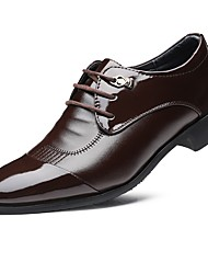 cheap -Men's Shoes Leatherette Fall Winter Comfort Formal Shoes Oxfords Split Joint For Casual Black Brown