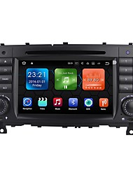 "economico -android 7.1 7 ""car stereo radio lettore dvd dash bluetooth tv mp3 mic per mercedes-benz c-class w203 2004-2008"