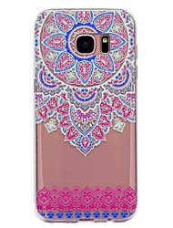 cheap -Case For Samsung Galaxy S8 Plus S8 Transparent Pattern Back Cover Mandala Lace Printing Soft TPU for S8 S8 Plus S7 edge S7