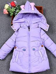 Mädchen Bluse Karton einfarbig Druck Polyester Winter Lange Ärmel Kurz