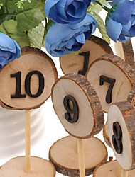Wooden Ornaments Standing Style Placecard Holders Wedding Reception