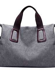 Women Bags All Seasons Canvas Shoulder Bag Zipper for Casual Coffee Purple Gray Black Blue