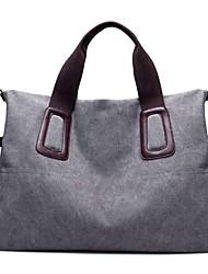 Women Bags Canvas Shoulder Bag Zipper for Casual All Seasons Blue Black Gray Purple Coffee