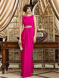 preiswerte -Mantel / Spalte Bateau Hals Boden Länge Chiffon Prom Kleid mit Perlen von ts Couture ®