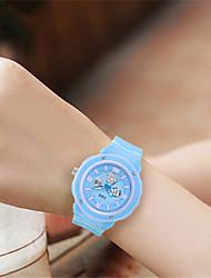 Жен. Модные часы электронные часы Цифровой Pезина Группа Синий Розовый Фиолетовый Роуз