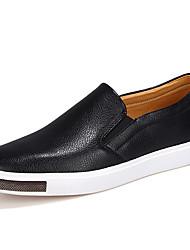 abordables -Homme Chaussures Cuir Automne / Hiver Confort / Moccasin Mocassins et Chaussons+D6148 Blanc / Noir / Bleu / Soirée & Evénement