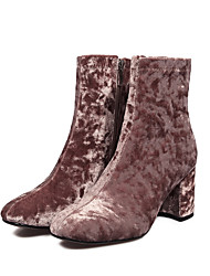 cheap -Women's Shoes Fleece Winter Fashion Boots Boots Booties/Ankle Boots for Casual Black Brown Pink