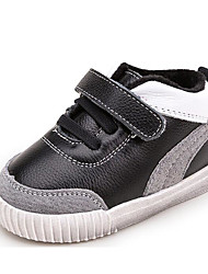 Baby Shoes Leatherette Spring Fall Comfort First Walkers Sneakers For Casual Black White