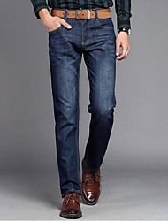 Men's High Rise Stretchy Jeans Pants,Street chic Jeans Solid