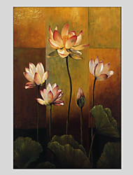 economico -Dipinta a mano Floreale/Botanical Fiore Realismo Pastorale Un Pannello Tela Hang-Dipinto ad olio For Decorazioni per la casa