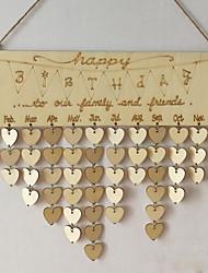 abordables -Occasion spéciale / Soirée / Fête / Bureau / Carrière Matière En bois Décorations de Mariage Vacances Printemps, Août, Hiver, Eté