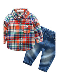 Baby Boys' Daily Lattice Clothing Set Autumn/Fall