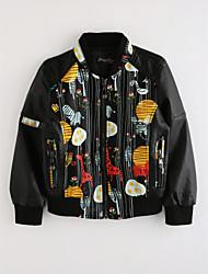 cheap -Boys' Cartoon Jacket & Coat,Cotton Fall Long Sleeve Black