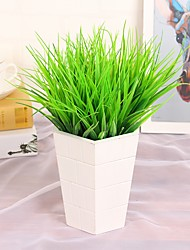cheap -6Pcs/lot Brick Artificial Plants Green Grass 7 Fork 27cm Spring Grass