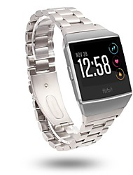 cheap -For Fitbit Ionic Band Stainless Steel Strap Smart watch Metal Replacement Wrist Strap