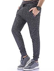economico -Da uomo A vita medio-alta Attivo Moda città Media elasticità magro Harém Pantaloni della tuta Pantaloni,Tinta unita Inverno Autunno