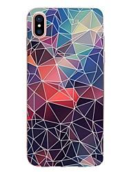 economico -Custodia Per Apple iPhone X iPhone 8 iPhone 8 Plus Transparente Fantasia/disegno Custodia posteriore Geometrica Morbido TPU per iPhone X